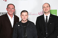 Plan B won Artist of the Year and Sam Eldridge of UROK Management was made Manager of the Year for his work with The Mystery Jets, Tribes, Dear Prudence, Tom O'Dell and Plan B - the latter co-managed with his veteran music-man father Roy, The Artist and Manager Awards 2012, held at The Troxy, London. Tuesday, Nov.27, 2012 (Photo/John Marshall JME)