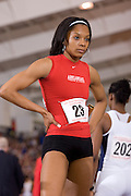 Arkansas Razorback Women's Track team at the NCAA Indoor.ChampionshipsUniversity of Arkansas Razorback Men and Women's Track and Field 2007 team....©Wesley Hitt.All Rights Reserved.501-258-0920.