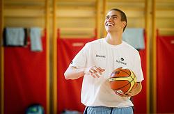 Jaka Brodnik during training camp of Slovenian National basketball team for Eurobasket 2013 on July 19, 2013 in Sports hall Rogatec, Slovenia. (Photo by Vid Ponikvar / Sportida.com)
