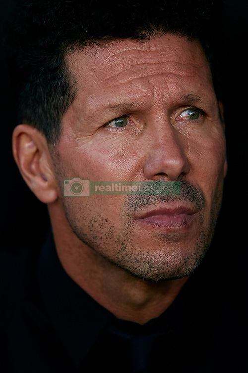 August 20, 2018 - Valencia, Valencia, Spain - Diego Pablo Simeone head coach of Atletico de Madrid looks on prior to the La Liga match between Valencia CF and Club Atletico de Madrid at Mestalla on August 20, 2018 in Valencia, Spain  (Credit Image: © David Aliaga/NurPhoto via ZUMA Press)