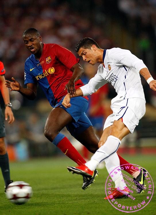 ROME 27/05/2009.Uefa Champions League - Final.Manchester United v Fc Barcelona.Cristiano Ronaldo shots ..Fot. Piotr Hawalej / WROFOTO