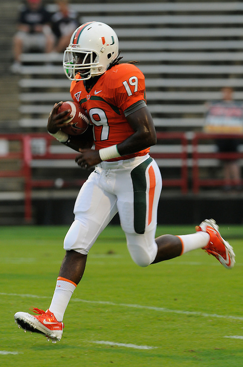 2011 Miami Hurricanes Football @ Maryland<br /> <br /> Darion Hall