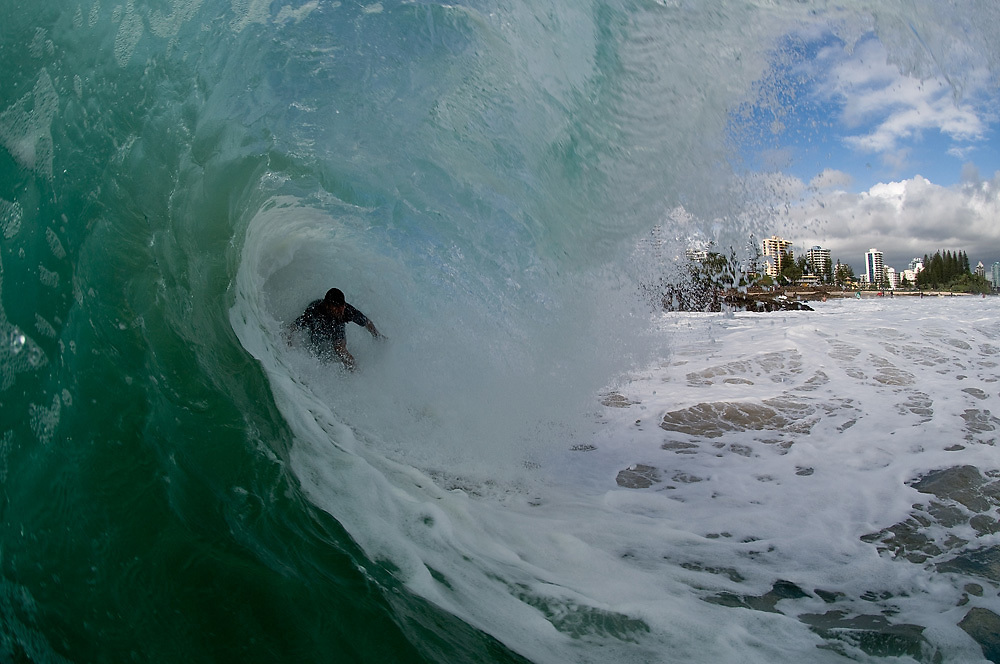 29 April 2011: surfs at Snapper Rocks on the Gold Coast. Photo by Matt Roberts