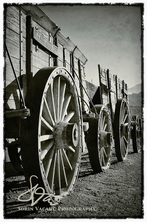 20 mule team carts at Furnace Creek, Death Valley National Park