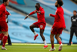 MANCHESTER, ENGLAND - Thursday, July 2, 2020: Liverpool's Sadio Mané during the pre-match warm-up before the FA Premier League match between Manchester City FC and Liverpool FC at the City of Manchester Stadium. The game was played behind closed doors due to the UK government's social distancing laws during the Coronavirus COVID-19 Pandemic. This was Liverpool's first game as Premier League 2019/20 Champions. (Pic by Propaganda)