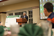Robert Colvin, Ph.D., and Molecular and Cellular Biology Director, speaks before the Kopchick Fellowship Awards Ceremony in Nelson Commons on Saturday, November 11, 2015. Photo by Kaitlin Owens