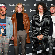 Larkins arrives at the AIM Independent Music Awards at the Roundhouse on 3 September 2019, Camden Town, London, UK.