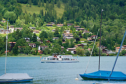 ROTTACH-EGERN, GERMANY - Wednesday, July 26, 2017: A tourist cruise boat on Lake Tegernsee in Rottach-Egern, the base for Liverpool's preseason training camp in Germany. (Pic by David Rawcliffe/Propaganda)