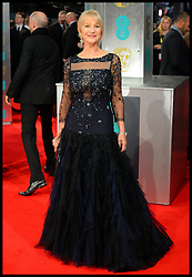 Helen Mirren arrives for the EE BRITISH ACADEMY FILM AWARDS 2014 (BAFTA) at the The Royal Opera House in Covent Garden . London, United Kingdom. Sunday, 16th February 2014. Picture by Andrew Parsons / i-Images