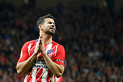 Atletico Madrid's Spanish forward Diego Costa reacts during the Spanish Cup, Copa del Rey quarter final, 1st leg football match between Atletico Madrid and Sevilla FC on January 17, 2018 at Wanda Metropolitano stadium in Madrid, Spain - Photo Benjamin Cremel / ProSportsImages / DPPI