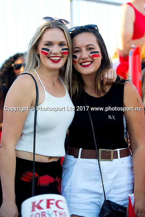 Young fans. Super Rugby match, Blues v Crusaders at AMI Stadium, Christchurch, New Zealand. 17 March 2017 © Copyright Photo: Martin Hunter / www.photosport.nz