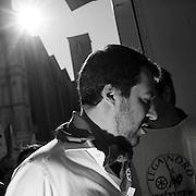 Il segretario della Lega Matteo Salvini  in piazza Maggiore a Bologna durante la manifestazione della Lega Nord con Forza Italia e Fratelli d'Italia. Bologna, 8 novembre 2015. Guido Montani / OneShot<br /> <br /> Lega Nord leader Matteo Salvini during the Lega Nord, Fratelli d'Italia and Forza Italia gathering in piazza Maggiore. Bologna, 8 november 2015 Guido Montani / OneShot