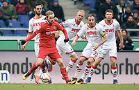 Fotball , v.l. Mergim Mavraj , Iver Fossum , Kevin Vogt, Matthias Lehmann, Dominique Heintz (Koeln)<br /> Hannover, 12.03.2016, Fussball Bundesliga, Hannover 96 - 1. FC Köln 0:2<br /> <br /> Norway only
