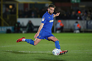 AFC Wimbledon defender Luke O'Neill (2) passing the ball during the EFL Sky Bet League 1 match between AFC Wimbledon and Ipswich Town at the Cherry Red Records Stadium, Kingston, England on 11 February 2020.