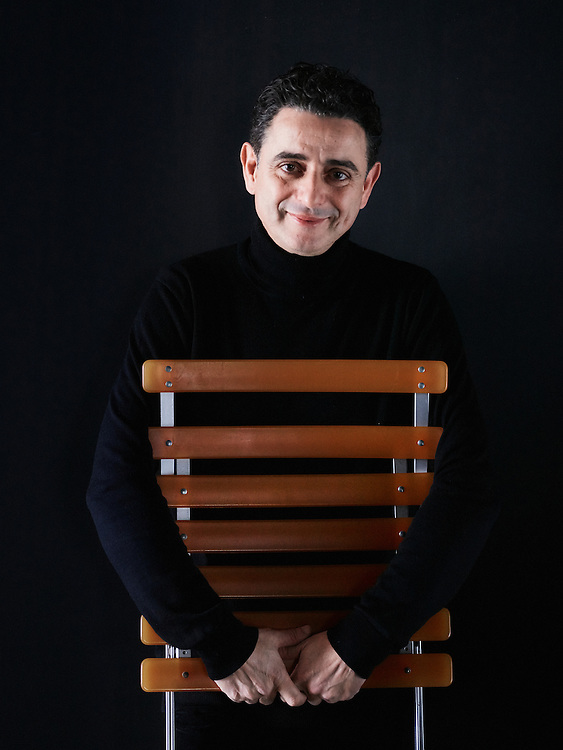 Paris, France. January 18, 2016. Chafik Gasmi, an architect, posing at his studio in Paris. Photo: Antoine Doyen