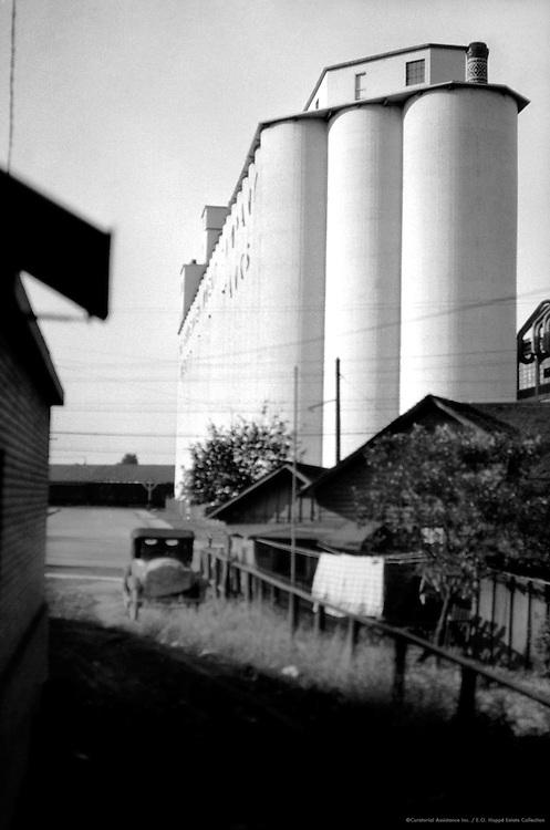 """The Shredded Wheat Company"" Grain Elevator and Car in Lane, Niagara Falls, New York, 1926"
