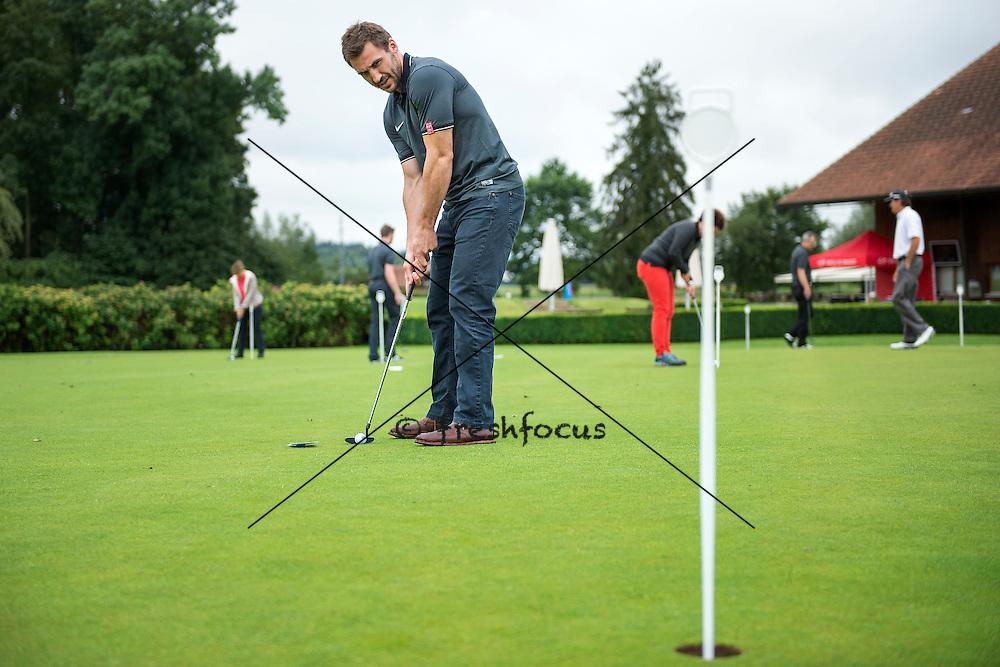 30.07.2014; Luterbach; Eishockey - Swiss Ice Hockey Golf Trophy 2014; Eric Walsky<br /> (Claudia Minder/freshfocus)