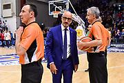 Francesco Vitucci<br /> Banco di Sardegna Dinamo Sassari - Happy Casa Brindisi<br /> LBA Serie A Postemobile 2018-2019 Playoff Quarti di Finale Gara2<br /> Sassari, 20/05/2019<br /> Foto L.Canu / Ciamillo-Castoria