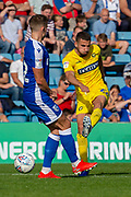 Wycombe Wanderers midfielder Nick Freeman (22) has a shot during the EFL Sky Bet League 1 match between Gillingham and Wycombe Wanderers at the MEMS Priestfield Stadium, Gillingham, England on 14 September 2019.