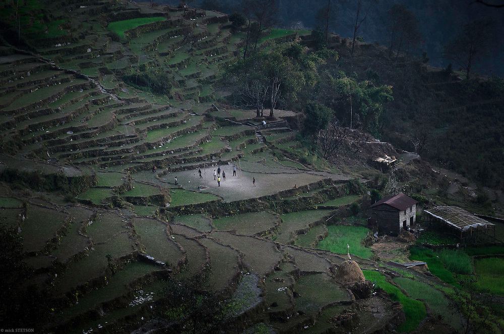— About 90% of the terraced fields are uncultivated and abandoned. Instead of producing bountiful harvests, the fallow land has become a playground for the few youth who remain in the villages.