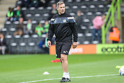 Forest Green Rovers assistant manager, Scott Lindsey during the EFL Sky Bet League 2 match between Forest Green Rovers and Newport County at the New Lawn, Forest Green, United Kingdom on 14 October 2017. Photo by Shane Healey.