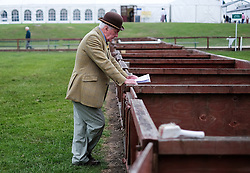 © Licensed to London News Pictures.16/07/15<br /> Harrogate, UK. <br /> <br /> A judge waits on the pig arenas ahead of the competitions starting on the final day of the Great Yorkshire Show.  <br /> <br /> England's premier agricultural show has seen three days of showcasing the best in British farming and celebrating the countryside.<br /> <br /> The event which attracts over 130,000 visitors each year displays the cream of the country's livestock and offers numerous displays and events giving the chance for visitors to see many different countryside activities.<br /> <br /> Photo credit : Ian Forsyth/LNP