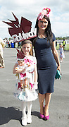 03/08/2014 Winner of the Mad Hatters competition (AduktSection)  Tara Newell from Ballinfoyle Galway  and  (Cjhildren's Section) Holly Lynott at the Final day of the Galway Racing Summer Festival. Photo:Andrew Downes