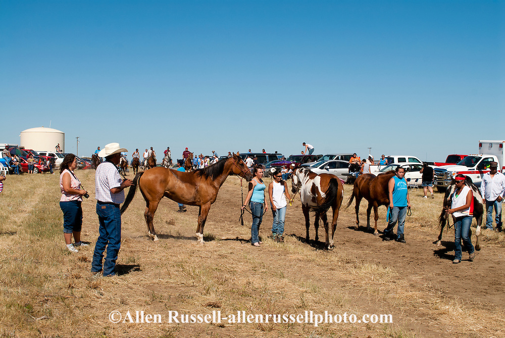 Fort Belknap Indian Reservation, Milk River Memorial Horse Races, Womens Two Mile Race, winner, Belinda Horn, Assiniboine .