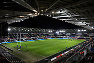 A general view of Liberty Stadium, home of Ospreys<br /> <br /> Photographer Simon King/Replay Images<br /> <br /> Anglo-Welsh Cup Round 4 - Ospreys v Bath Rugby - Friday 2nd February 2018 - Liberty Stadium - Swansea<br /> <br /> World Copyright &copy; Replay Images . All rights reserved. info@replayimages.co.uk - http://replayimages.co.uk