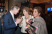 ANTHONY ANDREWS; NORMA MAJOR; GEORGINA SIMPSON, The press night performance of the Menier Chocolate Factory's 'Merrily We Roll Along', following its transfer to the Harold Pinter Theatre, After-show party at Grace Restaurant, Gt. Windmill St. London. 1 May 2013.