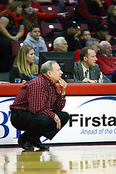 27 March 2011: Tom Collen during a WNIT (Women's National Invitational Tournament Women's basketball sweet 16 game between the Arkansas Razorbacks and the Illinois State Redbirds at Redbird Arena in Normal Illinois.
