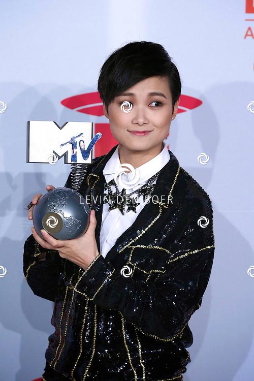 AMSTERDAM - In de Ziggo Dome zijn de MTV EMA AWARDS 2013. Met op de foto  Li Yuchun also known as Chris Lee. FOTO LEVIN DEN BOER - PERSFOTO.NU
