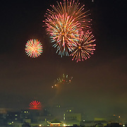 During the summer, fireworks displays are common throughout Japan.<br />