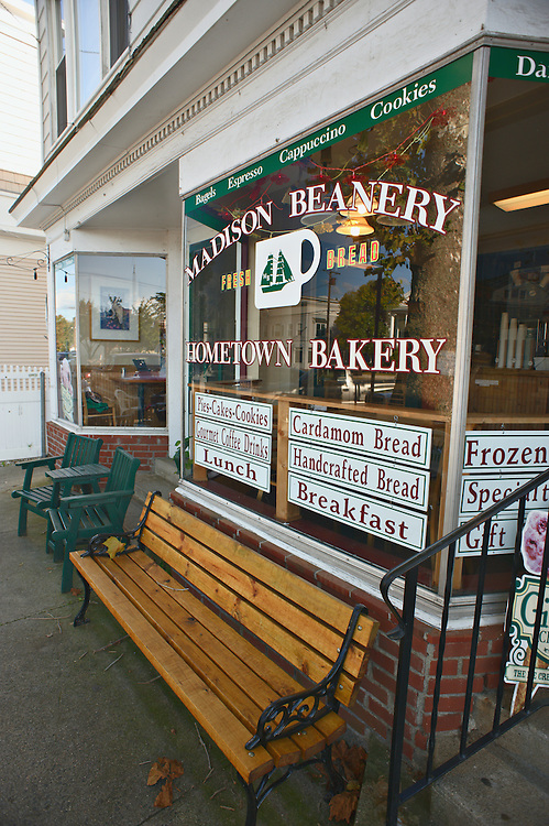 Exterior of Madison Beanery bakery, Madison, Connecticut, US