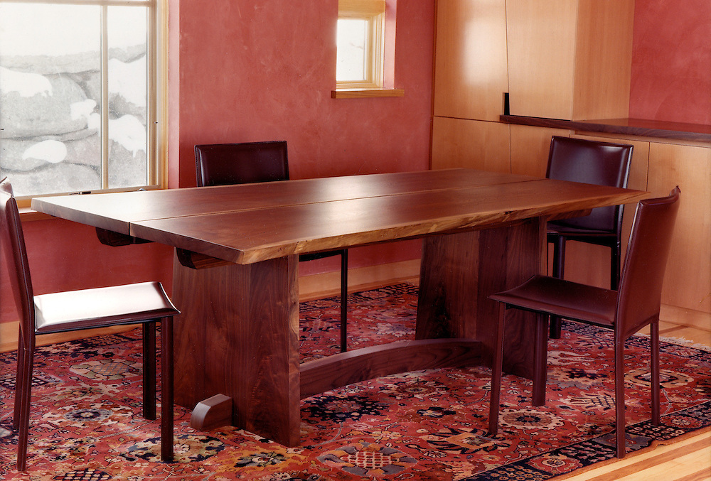 Live edge Walnut dining table<br /> handcrafted for a couple in Sunshine Canyon, Boulder, Co.