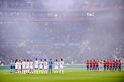 May 5, 2019 - Lyon, France - HOMMAGE AUX VICTIMES DE LA CATASTROPHE DE FURIANI - EQUIPE DE FOOTBALL DE LYON - EQUIPE DE FOOTBALL DE LILLE (Credit Image: © Panoramic via ZUMA Press)