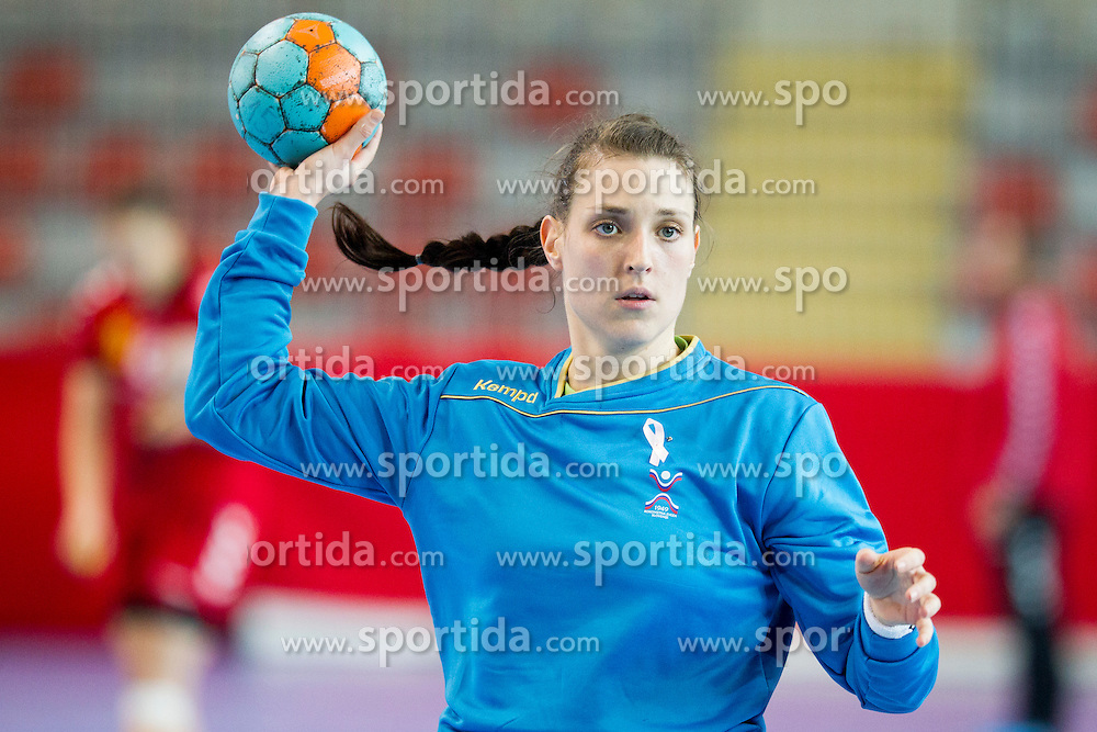 during handball match between Women National Teams of Slovenia and Montenegro in 2016 Women's European Championship Qualification, on October 11, 2015 in Arena Kodeljevo, Ljubljana, Slovenia. Photo by Urban Urbanc / Sportida