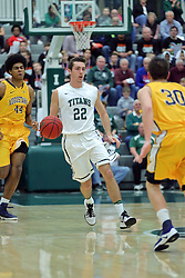 21 February 2017: Austin Amann during an College men's division 3 CCIW basketball game between the Augustana Vikings and the Illinois Wesleyan Titans in Shirk Center, Bloomington IL