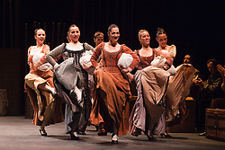 """© Licensed to London News Pictures. 14/02/2012. London, England. The Antonio Gades Company performs """"Fuenteovejuna"""" during the Flamenco Festival 2012 at Sadler's Wells, London. Photo credit: Bettina Strenske/LNP"""