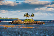 Rocky islet on Tutuila island, American Samoa, South Pacific
