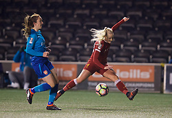WIDNES, ENGLAND - Wednesday, February 7, 2018: Liverpool's Alicia Johnson during the FA Women's Super League 1 match between Liverpool Ladies FC and Arsenal Ladies FC at the Halton Stadium. (Pic by David Rawcliffe/Propaganda)