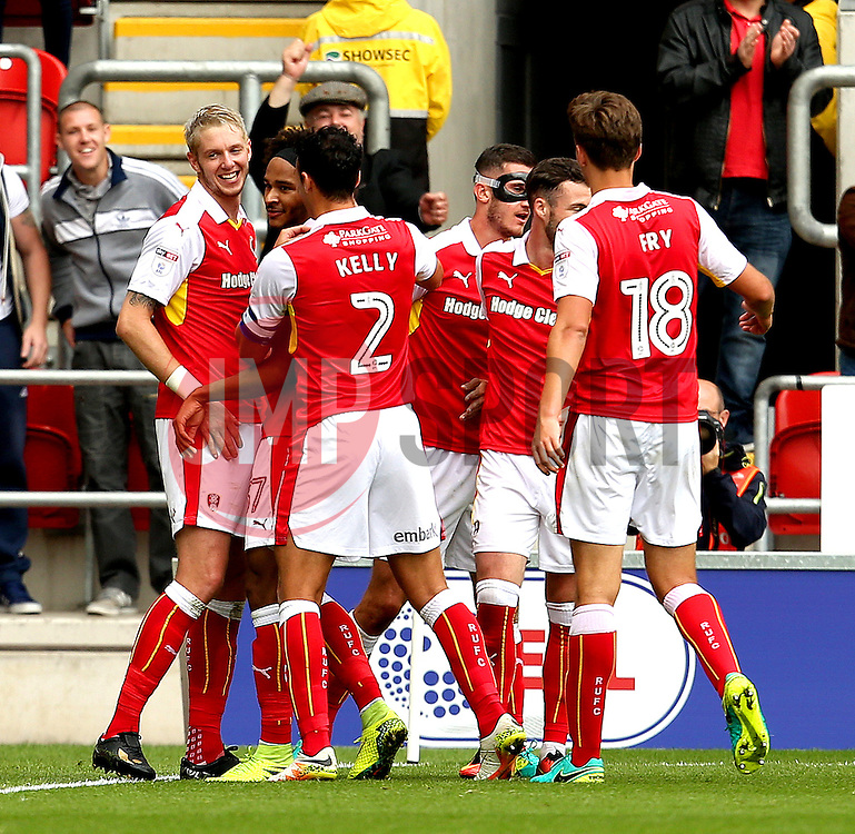 Greg Halford of Rotherham United celebrates after scoring his sides second goal  - Mandatory by-line: Matt McNulty/JMP - 10/09/2016 - FOOTBALL - Aesseal New York Stadium - Rotherham, England - Rotherham United v Bristol City - Sky Bet Championship