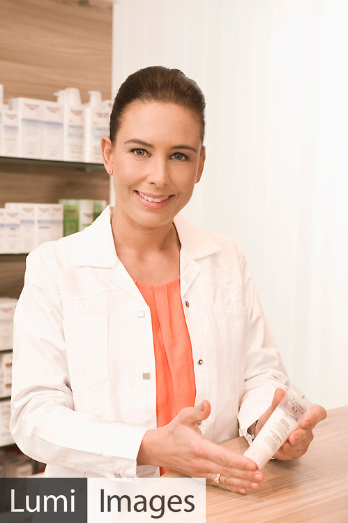 Female Pharmacist, Cosmetic Product, Choice
