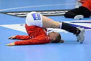 Sarah Iversen fra Danmark under VM-playoff-kampen mellem Danmark og Schweiz i Roskilde Kongrescenter Bauhaus Arena, den 1.6.2019. Photo Credit: Allan Jensen/Søren Tidemann/EVENTMEDIA.