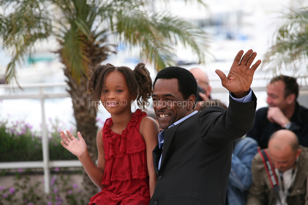 Actress Quvenzhané and actor Dwight Henry at the Beasts of the Southern Wild film photocall at the 65th Cannes Film Festival. Photocall on Saturday 19th May 2012 in Cannes Film Festival, France.