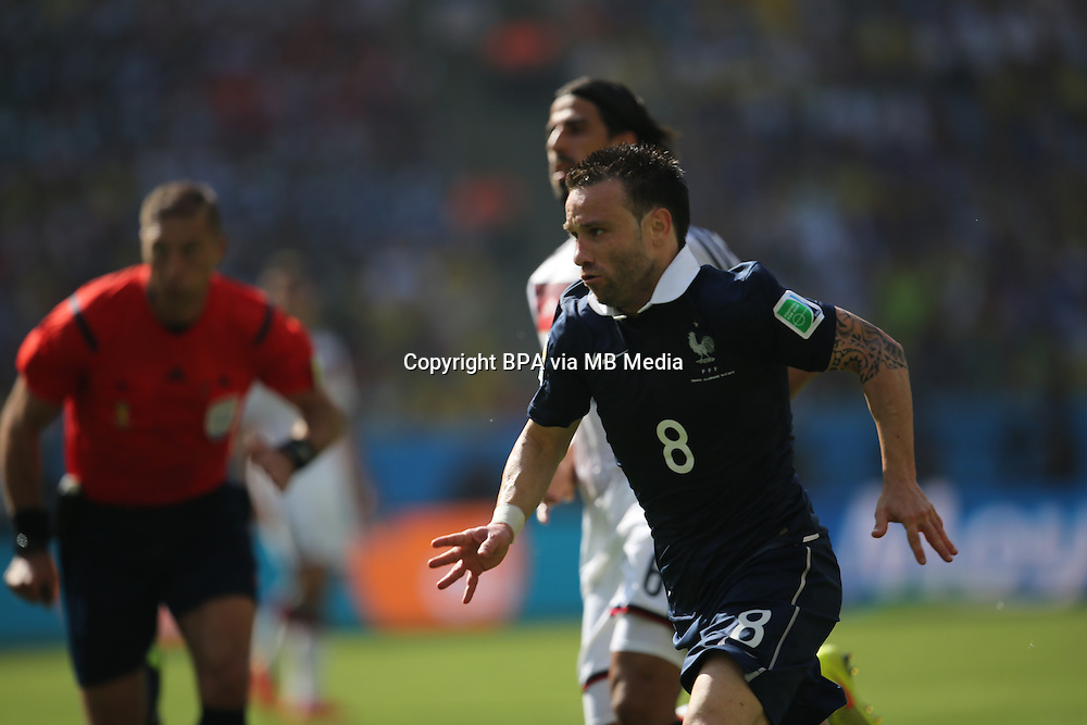 Mathieu Valbuena. France v Germany, quarter-final. FIFA World Cup Brazil 2014. 4 July 2014