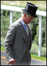 Image ©Licensed to i-Images Picture Agency. 18/06/2014. Ascot, United Kingdom. Prince Charles arrive's for Day 2 of Royal Ascot at Ascot Racecourse. Picture by Andrew Parsons / i-Images