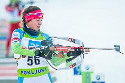 Urska Poje of Slovenia during Slovenian National Cup in Biathlon, on December 30, 2017 in Rudno polje, Pokljuka, Slovenia. Photo by Ziga Zupan / Sportida