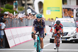 Tayler Wiles (USA) finishes second at Giro Rosa 2018 - Stage 5, a 122.6 km road race starting and finishing in Omegna, Italy on July 10, 2018. Photo by Sean Robinson/velofocus.com