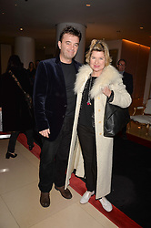 Edward Hall and Issy Van Randwyck at the Giselle Premier VIP Party, St.Martin's Lane Hotel, London England. 11 January 2017.